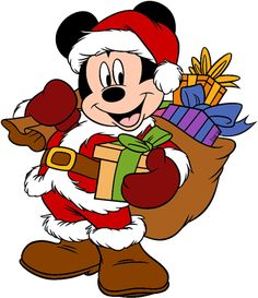 Mickey Mouse As Santa 2 - Mickey and Friends Christmas - Holiday Disney Character Designs in 4 sizes Embroidery - Mickey Mouse Imagenes, Mickey Mouse Png, Mickey Mouse Christmas, Christmas Cartoons, Christmas Characters, Mickey Mouse And Friends, Christmas Stickers, Christmas Clipart, Santa Christmas