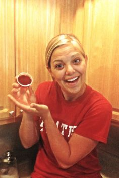 For wine lovers - Sangria Jell-O shots!!  1 package of sugar free strawberry jello (cherry or grape would work also), 1 cup of boiling water, 1/2 cup of vodka, 1/2 cup, or more, of your favorite wine (we used sweet red). So delicious!! Must try