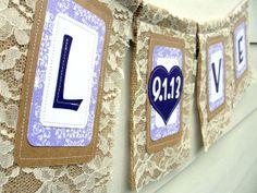 Lace & Burlap banner