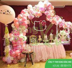 Bàn quà trang trí sinh nhật dễ thương cho sinh nhật bé gái BQSN038