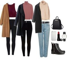 Winter outfits, fall outfits, casual outfits, cute outfits, fashion out Fall College Outfits, Preppy Outfits, Casual Winter Outfits, Fall Outfits, Cute Outfits, Fashion Outfits, Korean Winter Outfits, Womens Fashion, Look Fashion