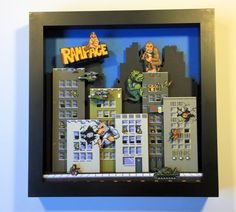 Rampage Arcade Game 3D Shadow Box by GlitchArtwork on Etsy