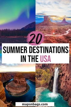 Looking for the best summer vacation spots in the United States? Only bucket list destinations and p Best Summer Vacations, Best Places To Vacation, Summer Vacation Spots, Summer Travel, Cool Places To Visit, Dream Vacations, Vacation Ideas, Greece Vacation, Romantic Vacations