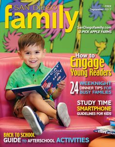 SDFM Sept. 2017: Back-to-School issue, afterschool activities in San Diego, weeknight dinner tips, how to engage young readers and more!