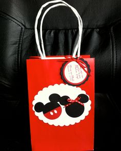Mickey and Minnie Treat Goody Bags with attached Thank You Tag - set of 12. $19.00, via Etsy.