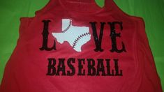 Love Baseball Shirt--Featuring your state with baseball laces--Unique for supporting your favorite team by SpunkySparkles on Etsy