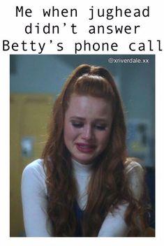 Me when jughead didn't answer betty's phone call riverdale funny, riverdale memes, Memes Riverdale, Riverdale Funny, Bughead Riverdale, Funny Quotes, Funny Memes, Hilarious, Meme Meme, Teen Wolf, Zack Y Cody