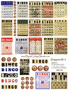 Never knew there was such a variety of bingo cards