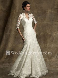 Destination Wedding Dress  I would love to have these sleeves!  Wonder if I could modify this dress to meet LDS standards?