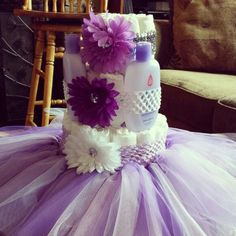 Tutu & diaper cake I made for my bestie babyshower