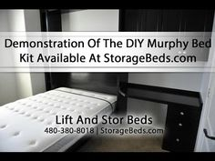 Lift & Stor Beds Demonstrates Their DIY Murphy Bed Kit Available At StorageBeds.com - YouTube