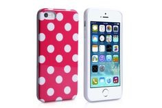 Polka Dot IMD Flexible Soft TPU Rubber Protector Cases for iPhone 5s & iPhone 5 | Lagoo Tech