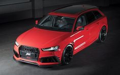 ABT, tuning, 2017 cars, Audi RS6 Plus one of 50, german cars, red rs6, Audi