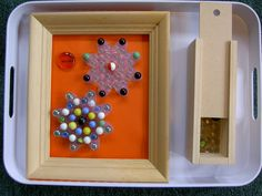 Inspired Montessori and Arts at Dundee Montessori: Marble Design and Patterning Work
