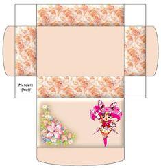 Cajita x imp. Minis, Facebook Sign Up, Paper Dolls, Sailor Moon, Floral Tie, Bunt, Wraps, Kawaii, Printables