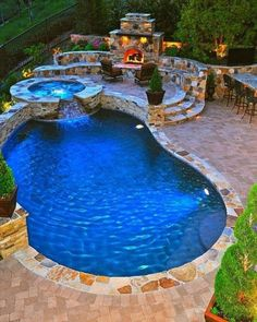 Backyard swimming pool ideas What is the best backyard pool.How do I decorate my backyard with a pool. Where should I put my pool. Amazing Swimming Pools, Small Swimming Pools, Small Backyard Pools, Backyard Pool Landscaping, Backyard Pool Designs, Swimming Pools Backyard, Swimming Pool Designs, Outdoor Pool, Backyard Ideas