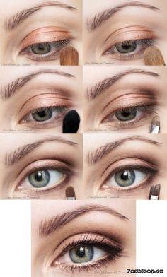 Картинки по запросу нюдовый макияж глаз пошагово