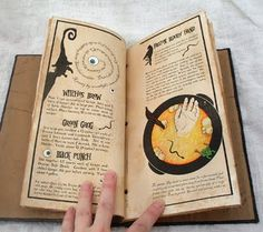 The most incredible handmade spell book.  Details here: http://mieljolie.blogspot.com/2010/08/spell-book-with-removable-recipe-pages.html