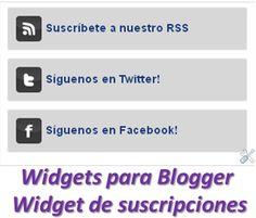Widgets para Blogger – Widget de suscripciones « Widgets y Plugins para Blogger
