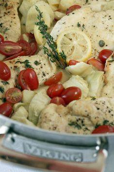 Chicken with Lemon, Artichokes, and Grape Tomatoes - Viking Range, LLC
