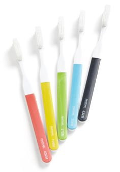 Pearly Brights Toothbrush Set - Multi, Dorm Decor, Minimal