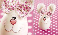 ovos4 Decoração de Páscoa com ovos de galinha!!!!