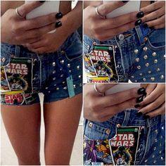Vintage High Waisted Star Wars Shorts