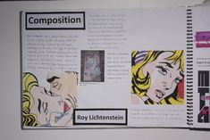 Sketchbook research page with my drawings | Roy Lichtenstein… | Flickr