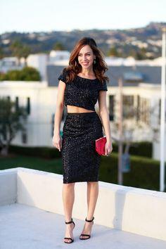 3 Ways To Wear A Sequin Skirt | theglitterguide.com