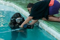 Our underwater photography interns prep in the pool before entering the ocean and putting into practice the skills they've learned. Underwater Photography, Ocean, Water Photography, Underwater Photos, The Ocean, Sea