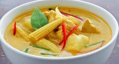 Yellow Thai chicken curry, seen as Gang Garee Gai or Kaeng Kari on English menus, is one of the most fragrant and hearty curries in Thai cuisine. The essence of making Thai curries is to heat the thick creamy part of the coconut milk until the oil and milk separates, and then frying it with curry paste until it becomes fragrant. If you get this part right, the rest is simple.