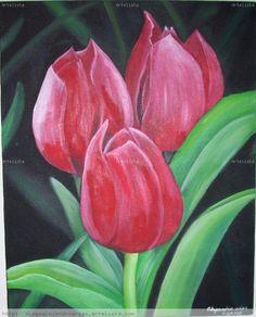 Pinturas al oleo de tulipanes - Imagui