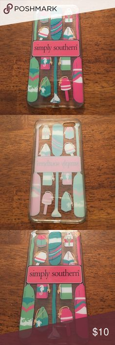 iPhone 6/6S/7/8 Plus Simply Southern Case iPhone case for 6 plus, 6S plus, 7 plus, 8 plus. In great used condition! Minor scratches on back of the case doesn't affect the logo/symbols on back of the case as shown in 3rd picture. Open to offers! Simply Southern Accessories Phone Cases