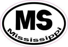 Oval MS Mississippi sticker