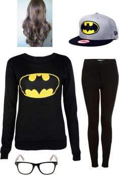 """""""batman outfit #2"""" by leannw2000 on Polyvore"""