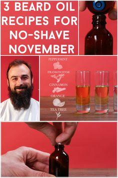 3 Beard Oil Recipes for No-Shave November Using Essential Oils