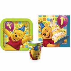 Winnie the Pooh's First Birthday Partyware