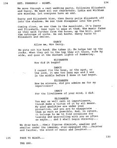 Pride and Prejudice 2005~Alternate ending in the script. THIS IS AWESOME! I LOVE IT!