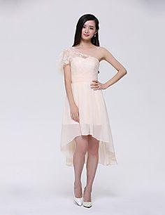 wedding reception dress? YHZ Women's One Shoulder Elegant Asymmetrical Party Dress – USD $ 39.99