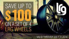 Save big on a purchase of stylish LRG Wheels! http://www.carid.com/lrg-wheels/