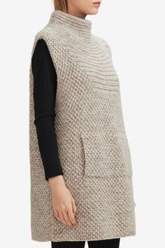 HANIA NEW YORK | Luxury Sustainable Knitwear | Luxury Knitwear Shop | Rata Vest Knitting For Kids, Baby Knitting Patterns, Hand Knitting, Crochet Cardigan Pattern, Tunic Pattern, Mixed Models, Long Sweaters, New York, Casual Tops