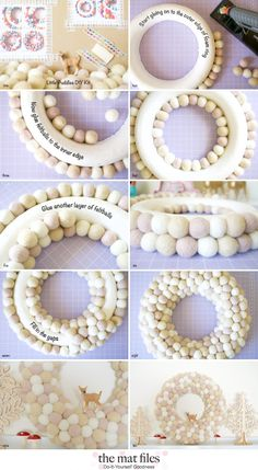 DIY Christmas Wreath - A little Felt Ball Magic                                                                                                                                                                                 More