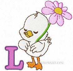 L -  Cute Embroidery Designs