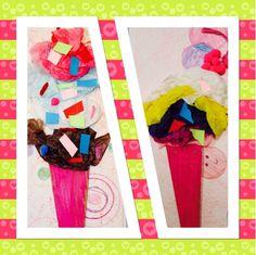 Mixed Media Ice Cream Cone #3rd Grade Kim & Karen: 2 Soul Sisters (Art Education Blog): Ice Cream, Tom Hanks, and Shimmy, Shimmy Ko Ko Pop