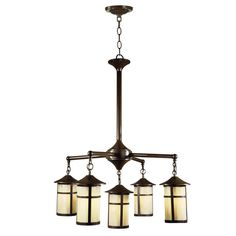 Dale Tiffany 5-Light Round Hanging Lantern Antique Bronze Chandelier-STH11025 at The Home Depot