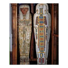 Egyptian sarcophagus covered with hieroglyphics (painted wood). Size: x Gender: unisex. Material: Value Poster Paper (Matte). Ancient Egypt Lessons, Ancient Egyptian Jewelry, Ancient Egypt History, Egyptian Art, Ancient Egypt Fashion, Egypt Mummy, Egyptian Mummies, Ancient Civilizations, Middle Ages