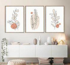 Botanical Wall Art, Botanical Prints, Botanical Decor, Minimal Art, Abstract Flowers, Home Decor Wall Art, Home Decor Paintings, Abstract Wall Art, Printable Wall Art