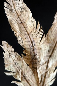 paper feathers very pretty