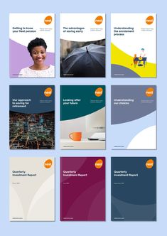 Creative strategy and brand development for a leading pension provider Brochure Cover Design, Book Cover Design, Book Design, Event Branding, Branding Design, Corporate Branding, Print Layout, Layout Design, Brand Assets