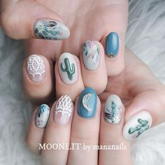Bohemian nail art March 01 2020 at nails Cute Acrylic Nails, Cute Nails, Pretty Nails, Gel Nail Designs, Cute Nail Designs, Bohemian Nails, Bohemian Flowers, Hair And Nails, My Nails